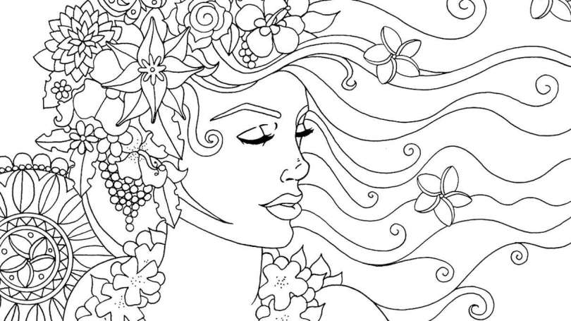 woman - coloring book - cathartic
